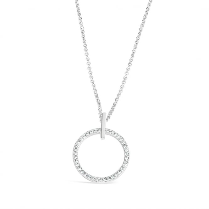 White Cubic Zirconia Long Necklace