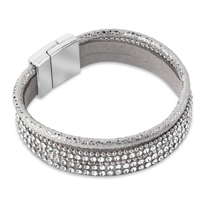 Imitation Rhodium Plated Grey tone Bracelet