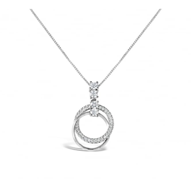 Lovely Rhodium Plated and Cubic Zirconia Necklace
