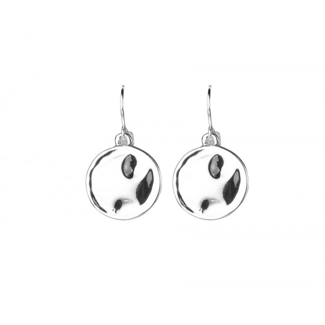 Silver coated Circle Earrings