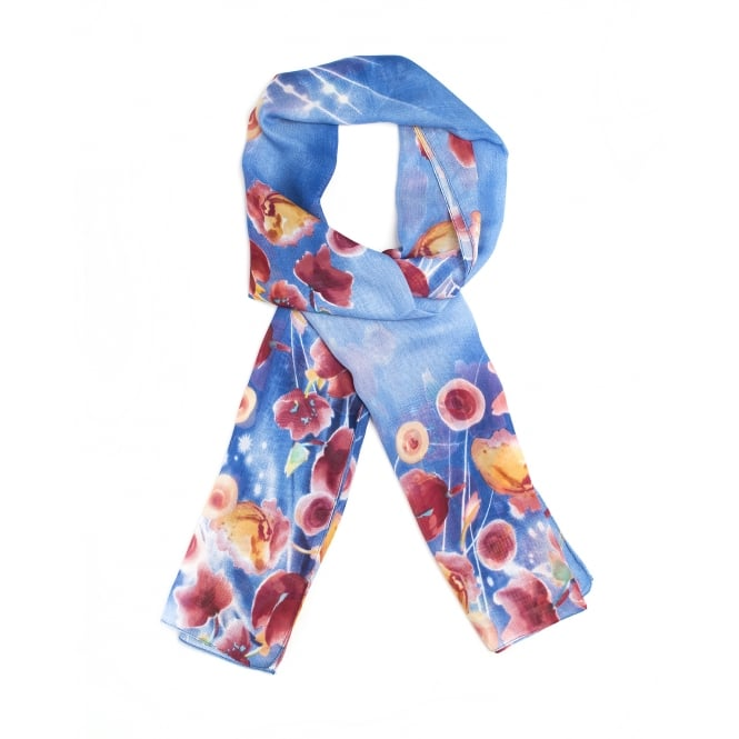 4 assorted floral print scarf in assorted colours.