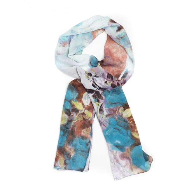 4 assorted floral print scarf in assorted spring and summer colours.