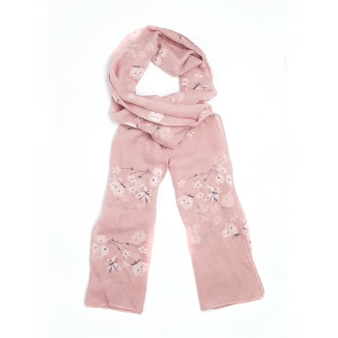 4 assorted flower/butterfly print scarf.Packed in 4 assorted colours.