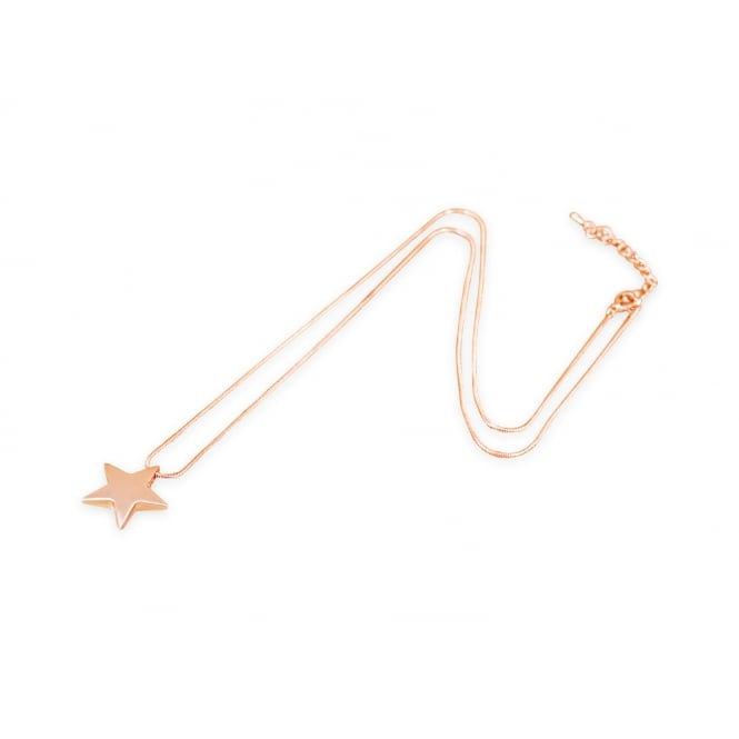 Lovely Rose gold Plated Long Star Necklace. Pouch
