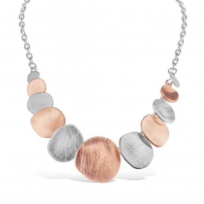 Pack of 2 Silver and Rose Gold Matt Plated Necklace