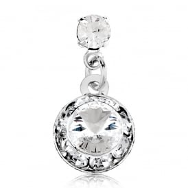 Classic Round Crystal Stud Earring