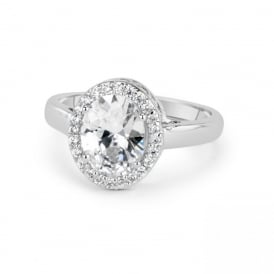 Classic Oval Cubic Zirconia Ring