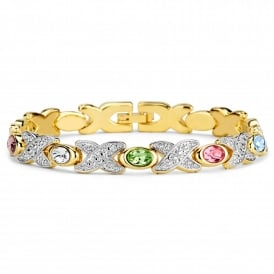 Gold Plated Multi Colour Magnetic Bracelet