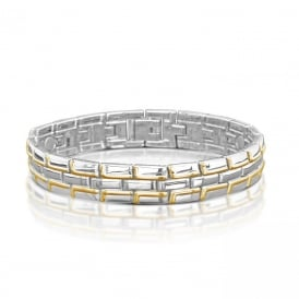 Magnetic Therapy Alloy Chain Effect Bracelet.