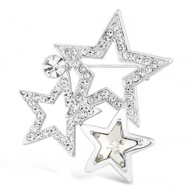Classic Star Brooch, with Crystal Stones
