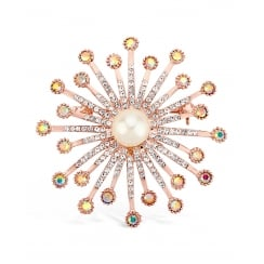 Stunning Rose Gold Plated Brooch.