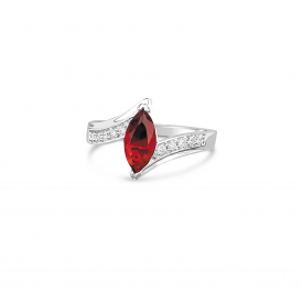 Ruby Red Marquise Elegant Ring