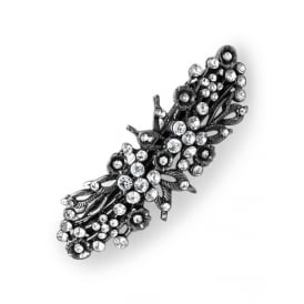 PACK OF THREE 8cm Vintage Crystal Stones bar-shaped clips.