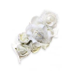 PACK OF THREE 7cm Bridal/Special Occasion Hair Clip with Flowers