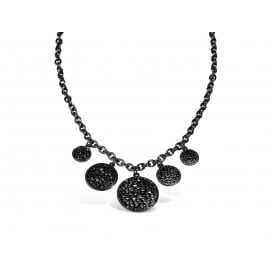Gun Metal Plated Statement Necklace.