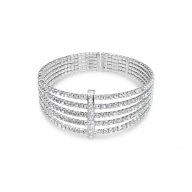 Rhodium Plated Bracelet.