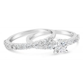 Set of 2 Beautiful Rhodium Plated Cubic Zirconia stones.