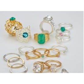 Sale pack of 50 assorted fashion rings for £50!!