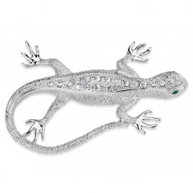 Rhodium Lizard Brooch. Price for Pack of Two.  Supplied with Presentation Box.